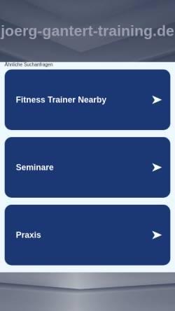 Vorschau der mobilen Webseite www.joerg-gantert-training.de, Jörg Gantert, Live Management Training