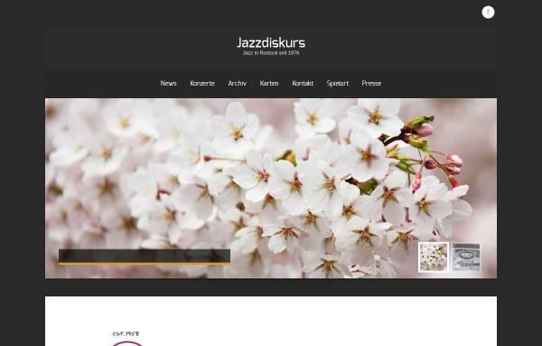 Vorschau von www.jazzdiskurs.de, Jazzdiskurs Hansestadt Rostock