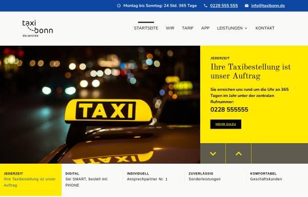 Vorschau von www.taxi-bonn.de, VV-TAXI GmbH