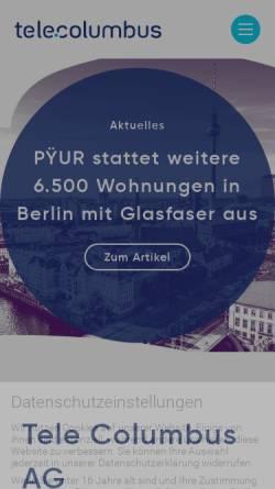 Vorschau der mobilen Webseite www.kcr-online.de, Kabelcom Rheinhessen GmbH
