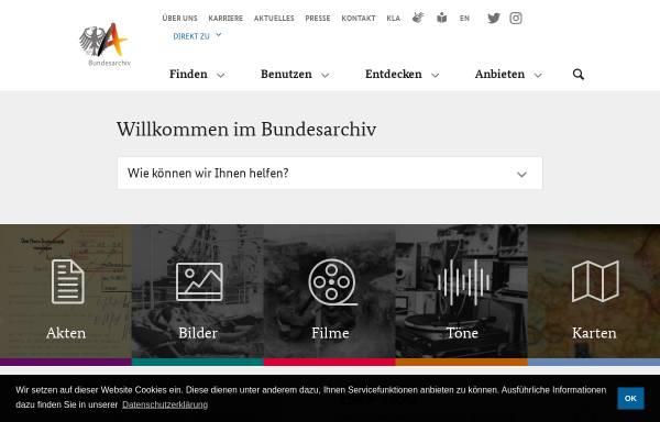 Vorschau von www.bundesarchiv.de, Bundesarchiv Online