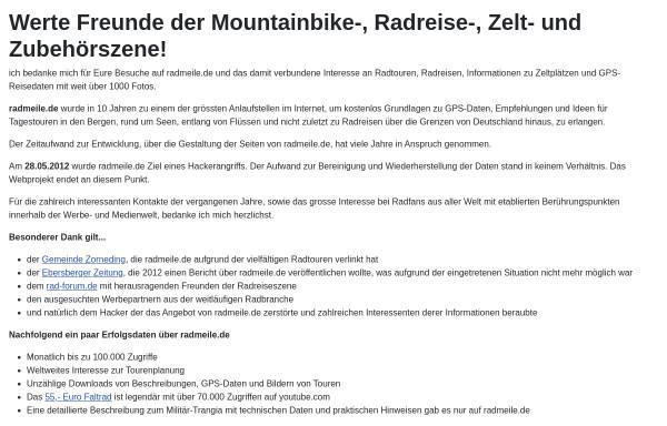 Vorschau von www.radmeile.de, Radmeile.de