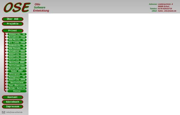 Vorschau von www.ose-erfurt.de, Radtour von Frankfurt a. Main nach Erfurt