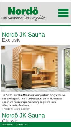 Vorschau der mobilen Webseite www.nordoe.de, Nordö GmbH