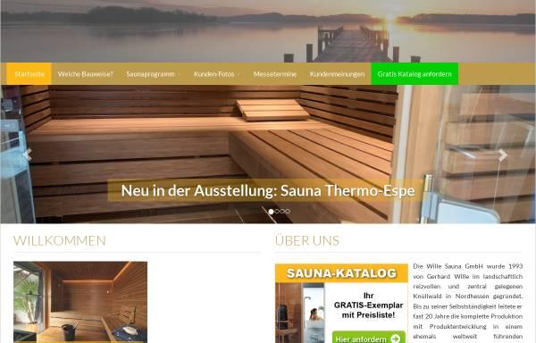 Vorschau von www.wille-sauna.de, Wille Sauna GmbH