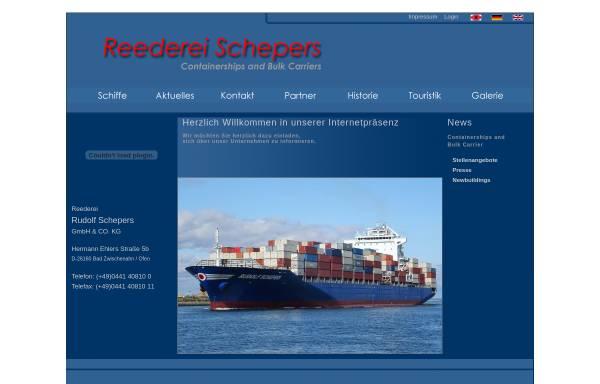 Vorschau von www.reederei-schepers.de, Reederei Rudolf Schepers