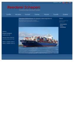 Vorschau der mobilen Webseite www.reederei-schepers.de, Reederei Rudolf Schepers