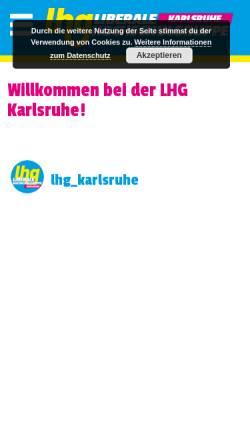 Vorschau der mobilen Webseite lhg-bw.de, LHG - Liberale Hochschulgruppe Karlsruhe