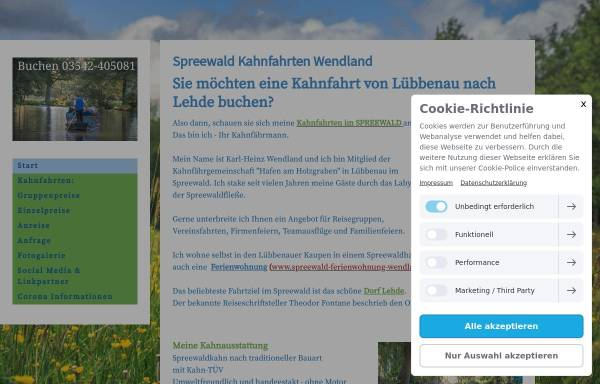 Vorschau von www.kahnfahrt.de, Kahnfahrt.de
