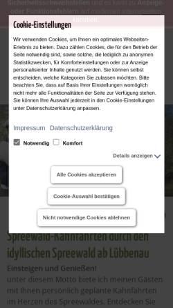 Vorschau der mobilen Webseite kahnfahrten-luebbenau.de, Kahnfahrten Marschner