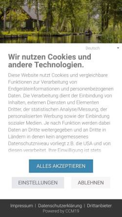 Vorschau der mobilen Webseite www.luebbenau-spreewald.com, Spreewald-Touristinformation e.V.