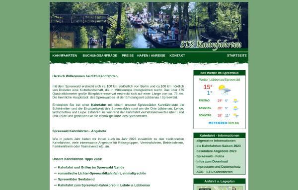 Vorschau von www.kahnfahrt.luebbenau-online.de, STS Kahnfahrten