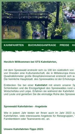 Vorschau der mobilen Webseite www.kahnfahrt.luebbenau-online.de, STS Kahnfahrten