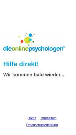 Vorschau der mobilen Webseite www.dieonlinepsychologen.de, Dieonlinepsychologen