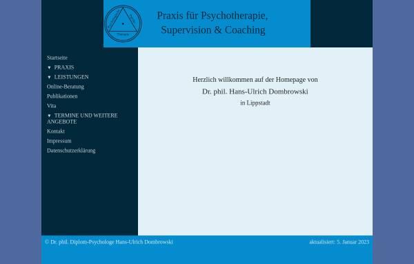 Vorschau von www.dr-dombrowski.de, Dombrowski, Dr. Hans-Ulrich