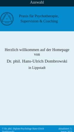 Vorschau der mobilen Webseite www.dr-dombrowski.de, Dombrowski, Dr. Hans-Ulrich