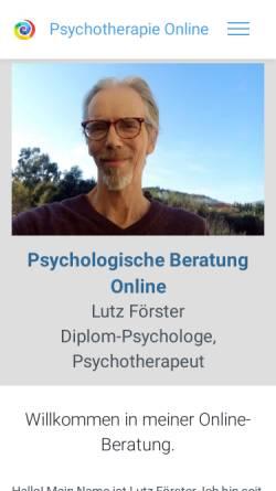 Vorschau der mobilen Webseite www.foerster-online-praxis.de, Förster, Lutz