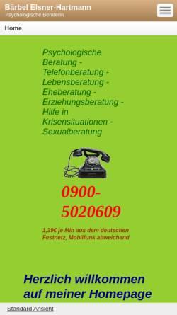 Vorschau der mobilen Webseite baerbel-hartmann.beepworld.de, Hartmann, Bärbel