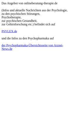 Vorschau der mobilen Webseite www.onlineberatung-therapie.de, Hilscher, Christian