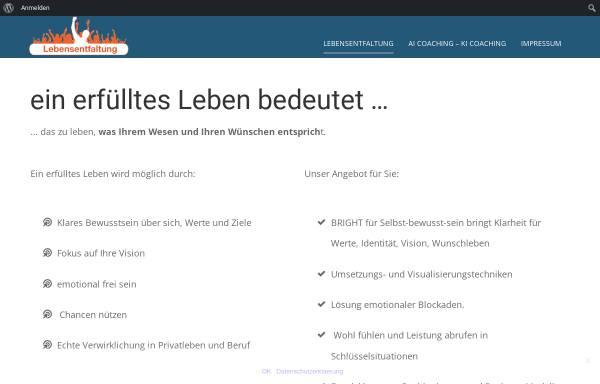 Vorschau von www.lebensentfaltung.de, Mayer, Christoph