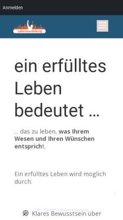Vorschau der mobilen Webseite www.lebensentfaltung.de, Mayer, Christoph
