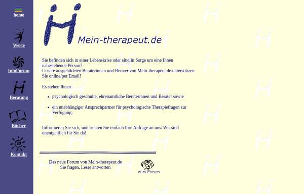 Vorschau von www.mein-therapeut.de, Mein-therapeut.de