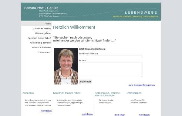 Vorschau von www.pfaeffl-gerullis.de, Pfäffl-Gerullis, Barbara