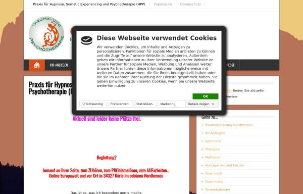 Vorschau von www.traumaberatung-nordhessen.de, Umbach, Cornelia