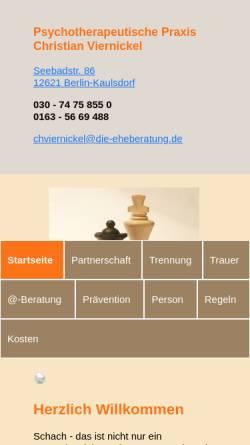 Vorschau der mobilen Webseite die-eheberatung.de, Viernickel, Christian