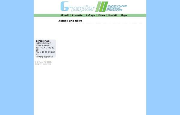 Vorschau von www.g-papier.ch, G-Papier AG
