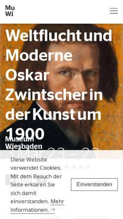 Vorschau der mobilen Webseite museum-wiesbaden.de, Museum Wiesbaden