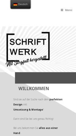 Vorschau der mobilen Webseite www.schoenweger-design.it, Schönweger deSIGN KG