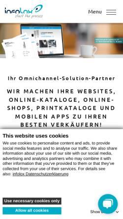 Vorschau der mobilen Webseite www.infolox.de, Infolox GmbH