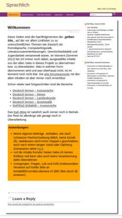 Vorschau der mobilen Webseite cornelia.siteware.ch, Die gelbe Site