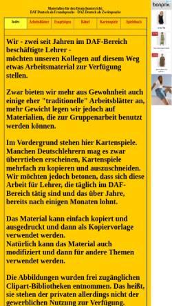 Vorschau der mobilen Webseite www.westfr.de, Materialien für den Deutschunterricht: