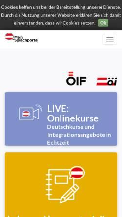 Vorschau der mobilen Webseite www.oesterreichportal.at, Österreich Portal