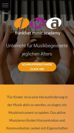 Vorschau der mobilen Webseite www.frankfurt-musikschule.de, Frankfurt Music Academy