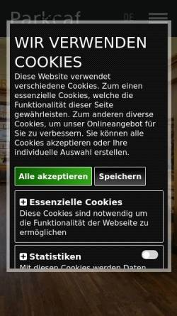 Vorschau der mobilen Webseite www.parkcafe089.de, Parkcafé