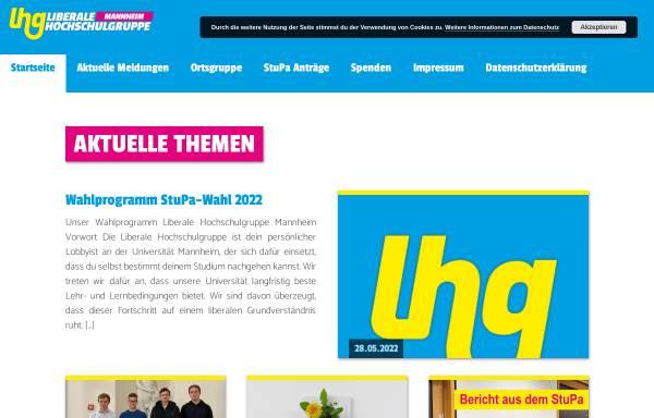 Vorschau von lhg-bw.de, LHG - Liberale Hochschulgruppe Mannheim
