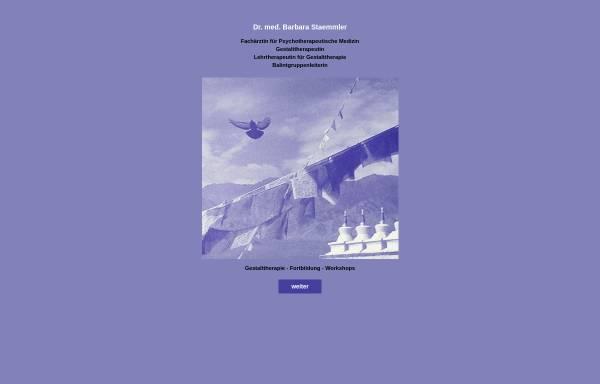 Vorschau von www.gestalttherapie-staemmler.de, Gestalttherapie Dr. Barbara Staemmler