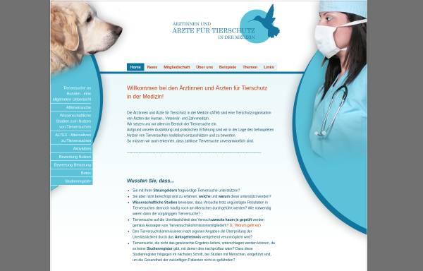 Vorschau von www.aerztefuertierschutz.ch, Ärzte für Tierschutz