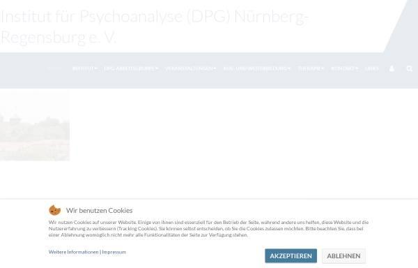 Vorschau von www.dpg-nuernberg.com, Institut für Psychoanalyse DPG Nürnberg e.V.