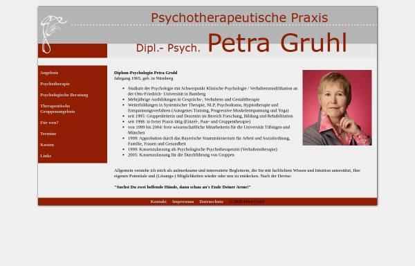 Vorschau von www.praxis-gruhl.de, Verhaltenstherapie - Petra Gruhl