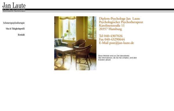 Vorschau von www.jan-laute.de, Diplom-Psychologe Jan Laute