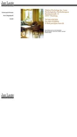 Vorschau der mobilen Webseite www.jan-laute.de, Diplom-Psychologe Jan Laute