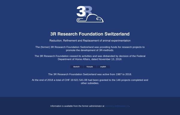 Vorschau von www.forschung3r.ch, Stiftung Forschung 3R