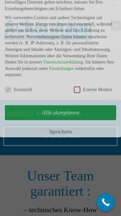 Vorschau der mobilen Webseite ackermann-armaturen.com, Ackermann Armaturen