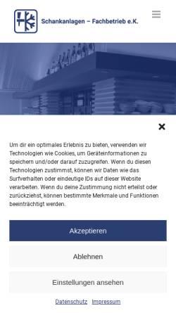 Vorschau der mobilen Webseite www.schank-technik.de, Erhard Kurowski Schankanlagen-Fachbetrieb