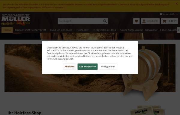 Vorschau von www.fassfabrik-mueller.de, Fassfabrik Müller GmbH