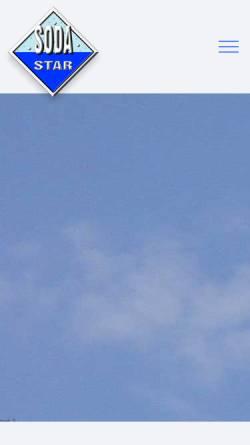 Vorschau der mobilen Webseite www.sodastar.de, Fest- und Schankanlagen Service Manfred Parchem